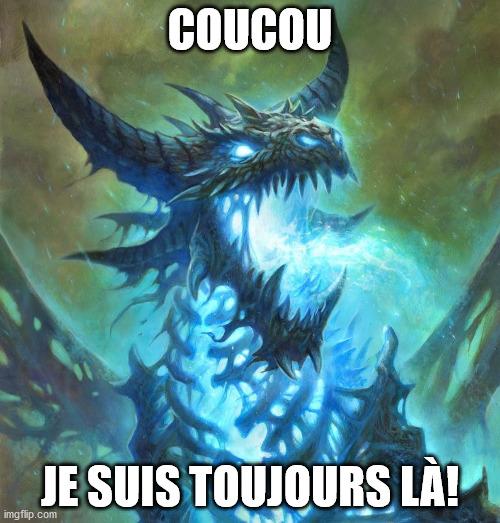 Le dragon increvable contre Guilhem le chevalier, Plume synthétique